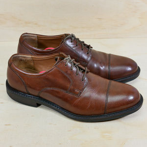 Johnston & Murphy Tabor Brown Leather Oxfords